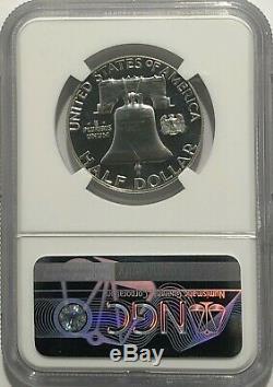 1963 Ngc Pf68 Star Proof Silver Franklin Half Dollar Blanc Brillant Coin 50c