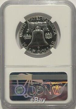 1963 P Ngc Pf69 Silver Proof Ben Franklin Demi-dollar 50c 90% D'argent Coins Blanc