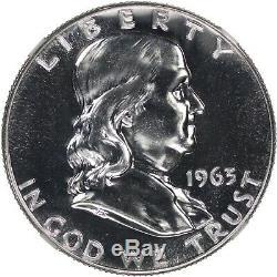 1963 Preuve Franklin Half Dollar 50c Ngc Certifié Pr Pf 69 Haze Spot Gratuit