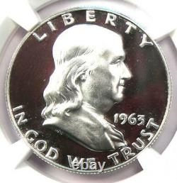 1963 Proof Franklin Half Dollar 50c Coin Ngc Pr69 Cameo (pf69) 1 080 $ Valeur