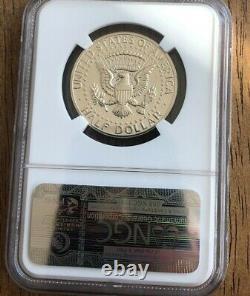 1964 50c Argent Kennedy Demi-dollar Preuve De La Variété De Cheveux Accented Ngc Pf67