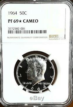 1964 50c Kennedy Dollar Ngc Pf Demi-69 Star Cameo! Impeccable Coin Registry
