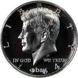 1964 Cheveux Accentués États-unis Preuve Kennedy Demi-dollar Classé Pf68 Cameo Par Ngc