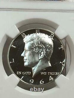 1964 Kennedy Demi-dollar Ngc Pf68 Ultra Cameo Pf Dcam