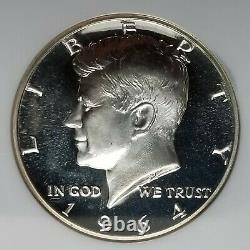 1964 Kennedy Demi-dollar Preuve Cameo Ngc Pf68 Cam