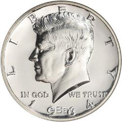 1964 Kennedy Us Silver Half Dollar Proof 50c Ngc Pf68 Accented Cheveux