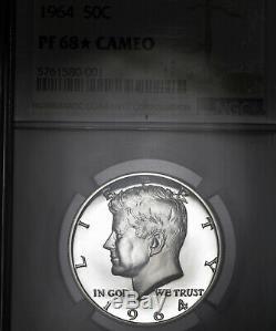 1964 Pf68 Star Cameo Kennedy Half Dollar 50c Preuve, Ngc Graded Pr68 Cam