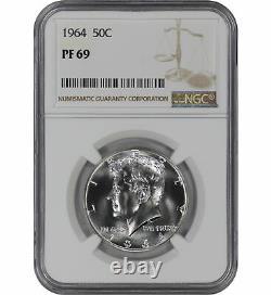1964 Preuve Kennedy Demi-dollar 50c Ngc Certifié Pf 69 Spot Haze Gratuit