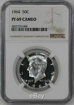 1964 Preuve Kennedy Half Dollar 50c Ngc Certifié Pfpr 69 Cameo (006)