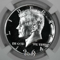 1964 Proof Kennedy Half Dollar 50c Accent Hair Ngc Certifié Pf 69 (009)