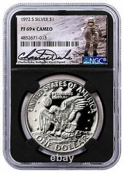 1972 $1 Argent Eisenhower Dollar Ngc Pf 69 Cam Duke