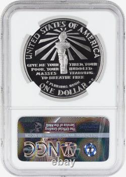 1986 S $1 Statue De La Liberté Centennial Commemorative Argent Dollar Ngc Pf70 Uc