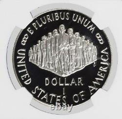 1987 S $1 U. S. Constitution Bicentennial Commemorative Silver Dollar Ngc Pf70 Uc