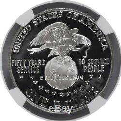 1991 S 1 $ Preuve Uso Commémorative Silver Dollar Ngc Pf70 Ultra Cameo