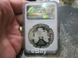 1995 W Anniversaire Set American Eagle Proof Silver Dollar Ngc Pf 69 Ultra Cameo