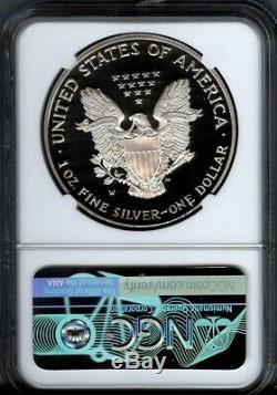 1995-w $ 1 Proof Silver Eagle Ngc Pf69 Ucam- Bonne Grève Rare- 30 000 Mintage