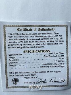 1997 One Troy Half Pound. 999 Pure Silver Eagle Dollar