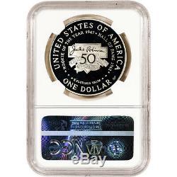 1997-s Us Jackie Robinson Preuve Commémorative Silver Dollar Ngc Pf70 Ucam