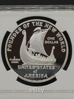2000-p Leif Ericson Ngc Pf70 Ucam Preuve Commémorative Silver Dollar S 1 $ Top Pop