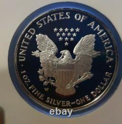 2001 2002 2003 W-ngc Pf69 Ucam 3 Coin Proof Set Dollar American Silver Eagle