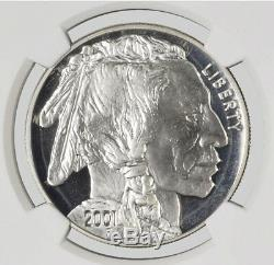 2001 P 1 $ American Buffalo Commémorative Silver Dollar Ngc Pf69 Ultra Cameo