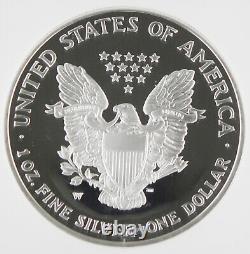 2003 W Américain 1 Oz 999 Silver Eagle Proof $1 Dollar Coin Ngc Pf70 Ultra Cameo