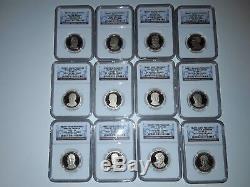 2007-2016 S Complète 39 Coin Dollar Présidentiel Coin Set Ngc Pf70