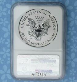 2013 W Ngc Pf 69 Preuve Inversée Silver Eagle Dollar, 1 Once. 999 En Argent Fin