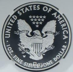 2013 W Ngc Sp 70 Amélioration De La Libération Anticipée Silver Dollar Eagle Avec Black Label