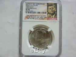 2014 P. D. S. W. Set 50e Anniversaire Relief Kennedy Half Dollar Ngc 70