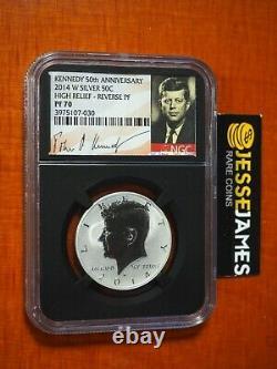 2014 W 50c Reverse Proof Argent Kennedy Demi-dollar Ngc Pf70 Black Core