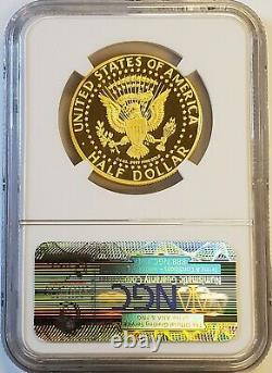 2014-w Kennedy 50e Anniversaire High Relief Proof Gold Half Dollar Ngc Pf70 Uc