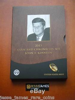 2015 P Preuve Inverse John F Kennedy Dollar Ngc Pf70 Ms70 Chronicles Ensemble De Pièces Ax3