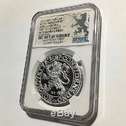 2017 Pays-bas Dollar Royal Dutch Lion 9999 1 Oz Argent Monnaie Ngc Pf70 5k