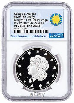 (2017) Smithsonian Morgans Premier Argent Dollars 1 Oz D'argent Ngc Pf70 Uc Sku47352