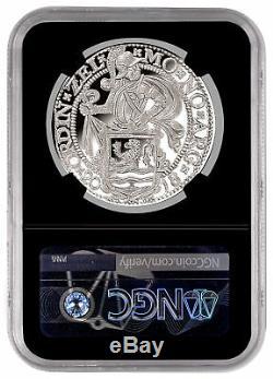 2018 Pays-bas 1 Oz Lion D'argent Dollar Ngc Pf70 Uc Fr Noir Noyau Sku53383