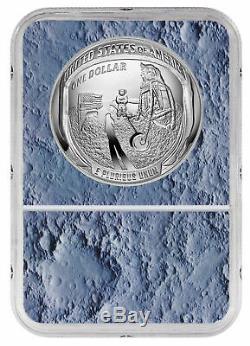 2019 Apollo 11 50e Annv Commem Silver Dollar Ngc Pf70 Ide Lune De Base Sku56541