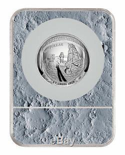 2019 Apollo 11 50e Commem 5 Oz Silver Dollar Ngc Pf70 Er Lune Étiquette Sku56516