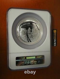 2019 P 5 Oz Proof Silver Apollo 11 Dollar Ngc Pf69 Ultra Cameo Premières Versions
