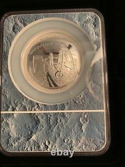 2019 P Apollo 11 50th Ann. 5 Oz. 999 Silver Dollar, Pf70 Uc, Early Releases