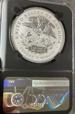 2019 Smithsonian Silver Morgan Schoolgirl Dollars 1 Oz. Ngc Inverser La Preuve Pf