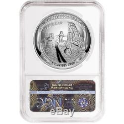 2019-p Preuve 1 $ Apollo 11 50th Ann Silver Dollar Ngc Pf70uc Ide Asf Étiquette