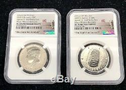 2019-s 50c 2-coin Kennedy Half Dollar Us Mint Set Apollo 11 Ngc Pf 70