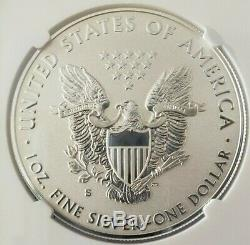 2019-s Silver Eagle Dollar Amélioré Preuve Inverse Pf70 Ngc Low Coa # 05881