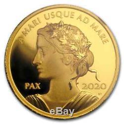 2020 1 Oz D'or. 99999 $ 200 Peace Dollar Preuve Pf-70 Ngc Fdoi Sku # 205543