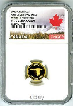 2020 Canada G $ 1,9999 Preuve D'or Ngc Pf70 Ucam Alex Colville 1967 Dollar Pop10