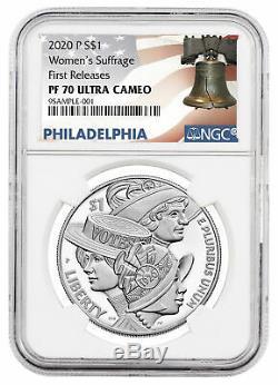 2020 P Femmes Silver Dollar Commémorative Du Suffrage Ngc Pf70 Fr Liberté Presale