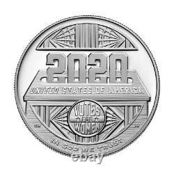 2020 P Us Women's Suffrage Preuve Commémorative Dollar D'argent Ngc Pf70 Ucam