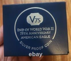 2020 W Fin De La Seconde Guerre Mondiale 75 American Silver Eagle V75 Ngc Pf70 Iwo Jima 70