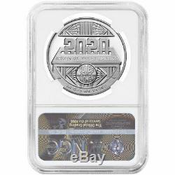 2020-p Preuve 1 $ Femmes Silver Dollar Centennial Suffrage Ngc Pf70uc Bleu Er